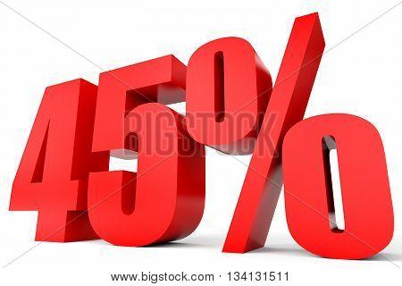 Discount 45 Percent Off. 3D Illustration.