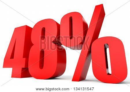 Discount 48 Percent Off. 3D Illustration.