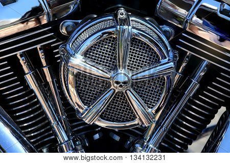 New motorcycle Chrome coated V-Twin engine image