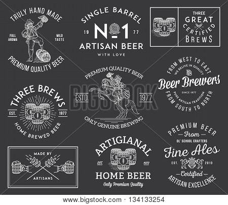 Illustrations celebrating quality artisan hand made beer