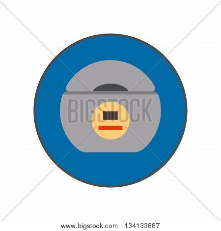 Dental floss vector icon. Colored illustration of box with dental floss