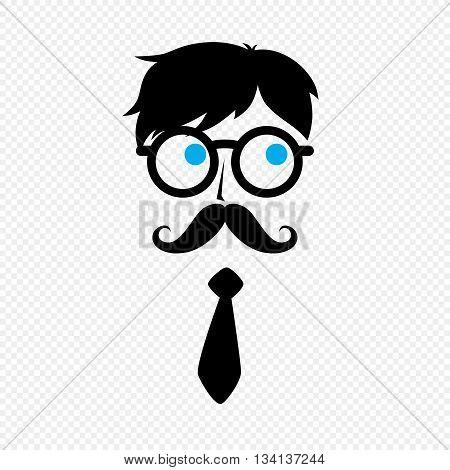 Geek Nerd Guy With Mustache