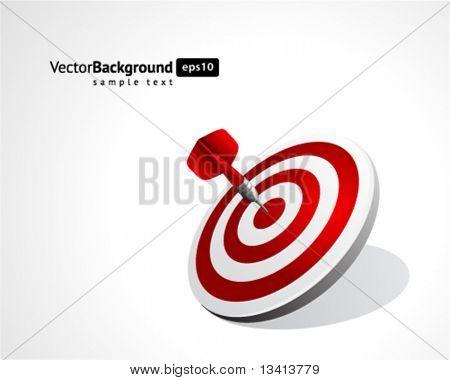 Dardo de fundo vector. EPS 10