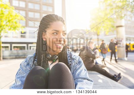 Black Young Woman Portrait In Berlin