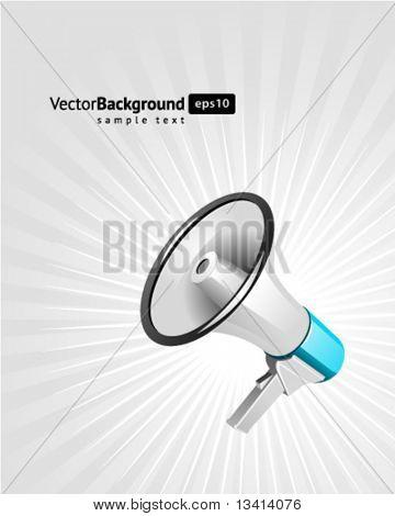 Megaphon Vektor Hintergrund. EPS 10