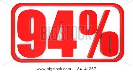 Discount 94 Percent Off. 3D Illustration.