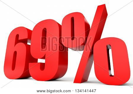 Discount 69 Percent Off. 3D Illustration.