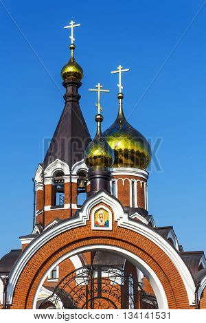 Kargat Novosibirsk oblast Siberia Russia - June 12 2016: the Orthodox Church of Elijah the Prophet