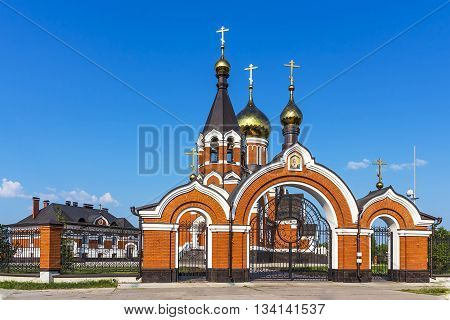 Kargat Novosibirsk oblast Siberia Russia - June 12 2016: the Orthodox Church of Elijah the Prophet