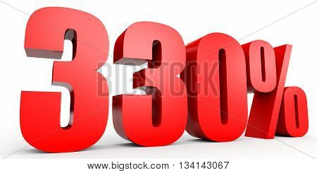 Discount 330 Percent Off. 3D Illustration.