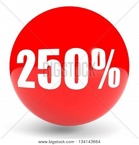 Discount 250 Percent Off. 3D Illustration.