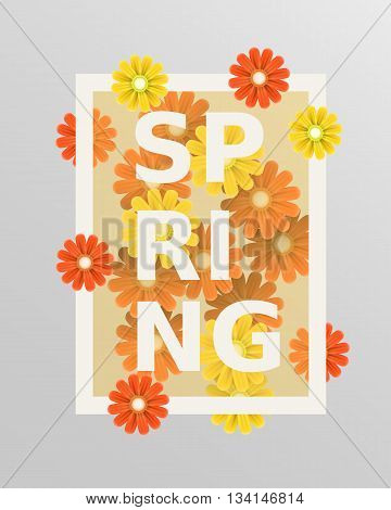 Spring flower and weeding design elements. Vector illustration. Background With flowers. Spring concept.