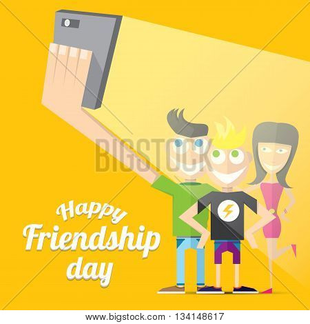Happy friendship day vector background. Best Friends forever concept vector illustration