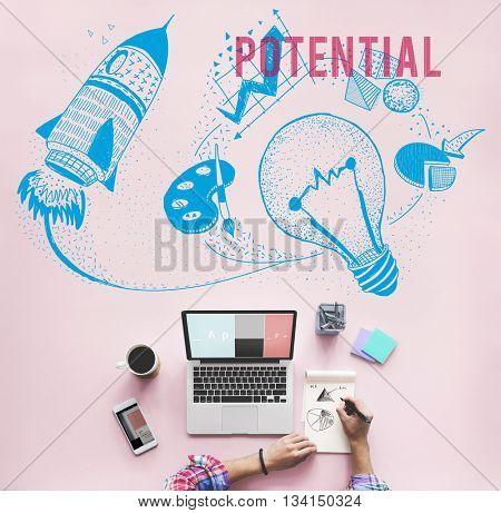 Potential Ideas Creativity Imagination Light Bulb Concept