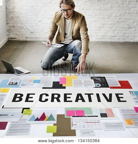 Be Creative Design Imagine Innovate Invention Concept