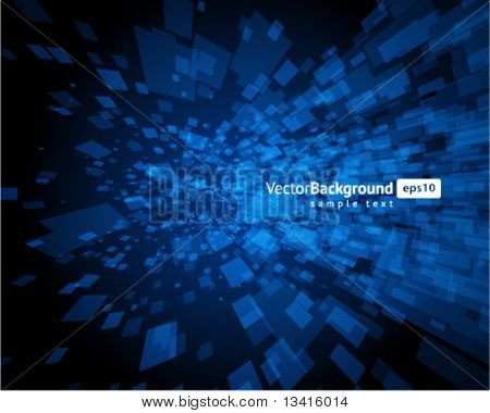 Abstract fly squares shapes vector background