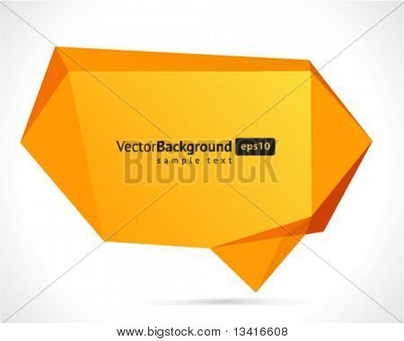 abstrakt Origami Rede Blase Vector Hintergrund