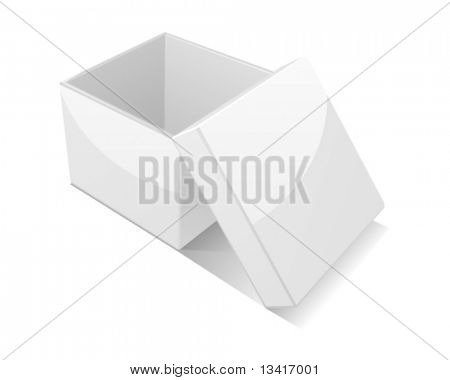 Open box isolated on white background