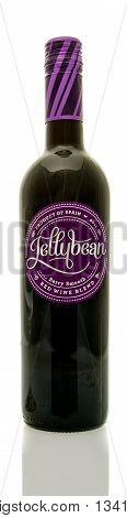 Winneconne WI - 8 June 2016: Bottle of Jellybean wine on an isolated background