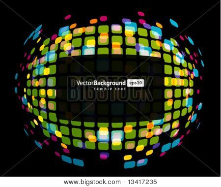 Abstract technology wire hexagonal vector background