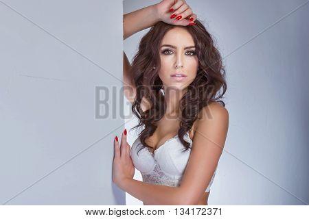 Portrait Of Beautiful Woman.