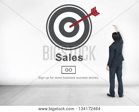 Sales Selling Commerce Cost Marketing Retail Sell Concept