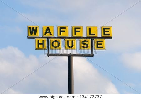 Waffle House Exterior Sign And Logo