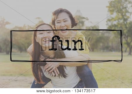 Fun Activities Enjoyment Happiness Enjoyment Pleasure Concept