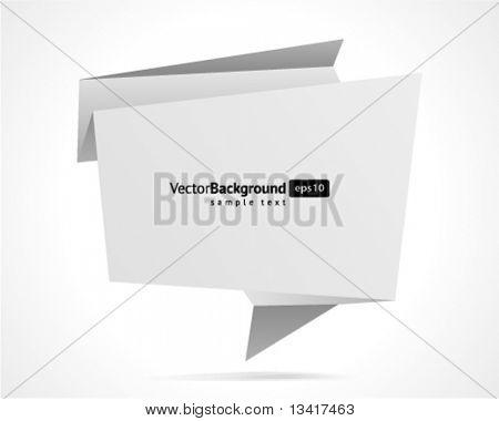 Abstrakt Origami Rede Blase Vektor Hintergrund