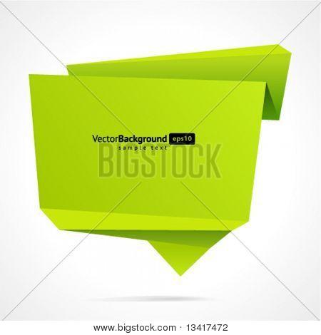 Resumen de origami discurso burbuja vector fondo