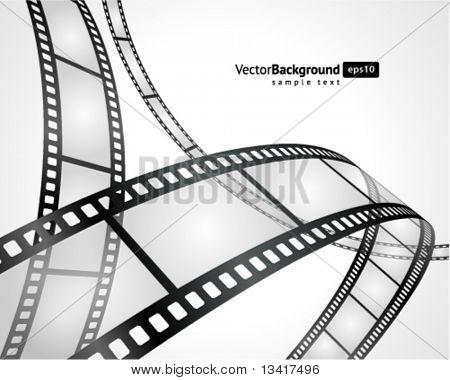 Fondo de vector de tira de película