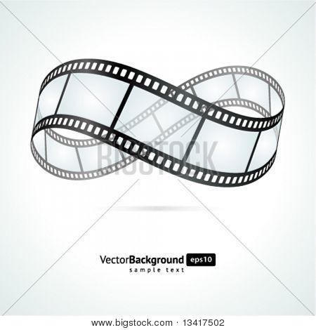 Fondo de vector película tira infinity