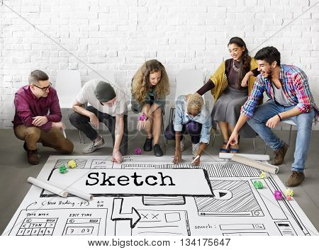 Sketch Ideas Design Conceptualize Plan Concept