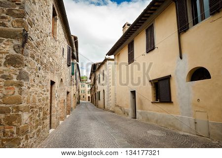 Beautiful Montalcino In Tuscany View
