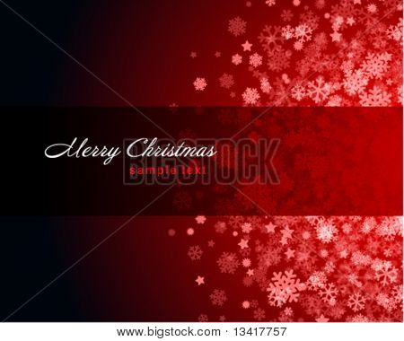 Christmas red vector background