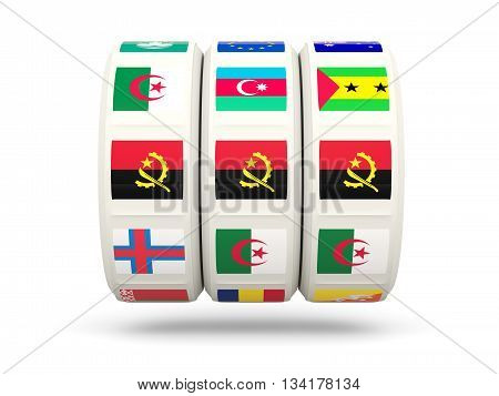 Slots With Flag Of Angola