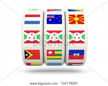 Slots With Flag Of Burundi