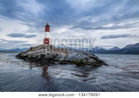 Les Eclaireurs lighthouse on Beagle Channel, Ushuaia - Argentina