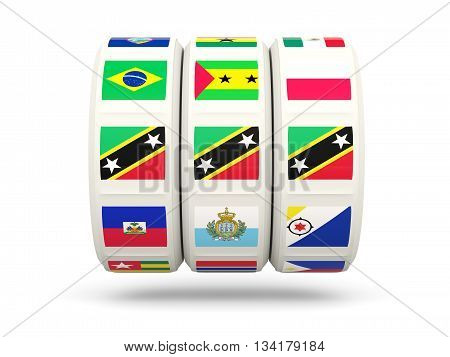 Slots With Flag Of Saint Kitts And Nevis