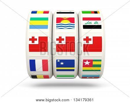 Slots With Flag Of Tonga