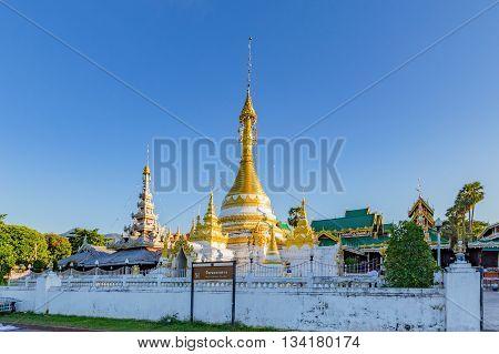 Wat Jong Klang And Wat Jong Kham At Maehongson Province, North Of Thailand