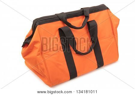 Big travel bag on a white background