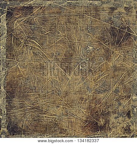 Grunge background or texture with vintage frame design and different color patterns: yellow (beige); brown; gray; black