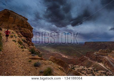 Moki Dugway Overlook Mexican Hat Utah