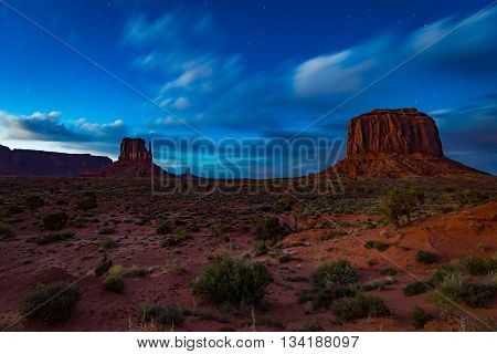Monument Valley At Night
