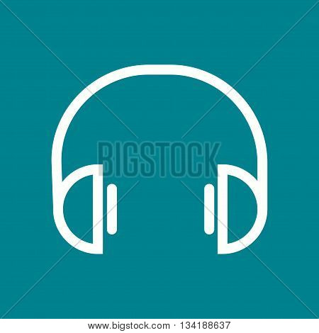 Music, player, listening icon vector image. Can also be used for music. Suitable for web apps, mobile apps and print media.