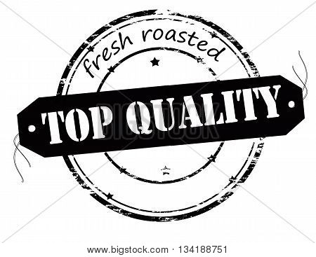 Rubber stamp with text fresh roasted top quality inside vector illustration