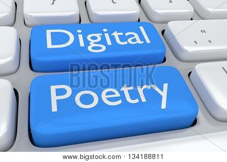 Digital Poetry Concept