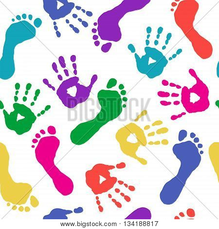 Paints Prints Of Hands And Feet