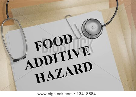 Food Additive Hazard Medical Research Concept